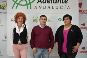 Inmaculada Camacho, Sebastián Rivero y María Luisa Arias