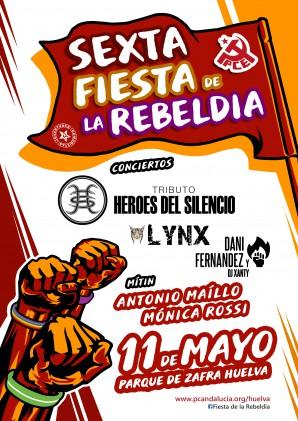Fiesta Rebeldía Cartel musical