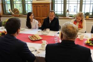 Reunión con la el alcalde de la ciudad de Lidzbark